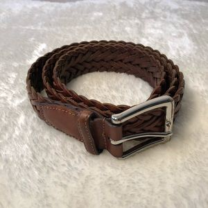 Cole Haan Braided Leather Belt 34
